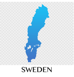 Sweden map in europe continent design vector
