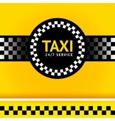 Taxi symbol square vector image