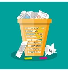 Trash Recycle Bin Garbage Flat vector image vector image
