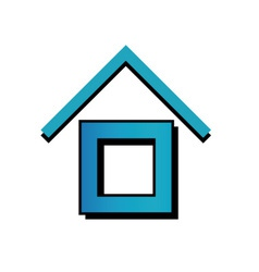 House with a roof vector image vector image