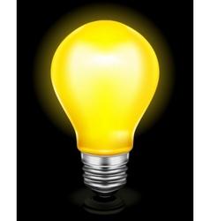 Light bulb on black vector image vector image