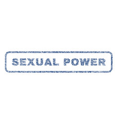 sexual power textile stamp vector image vector image
