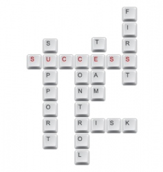 succes crossword vector image vector image