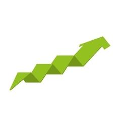 arrow growth up icon vector image vector image