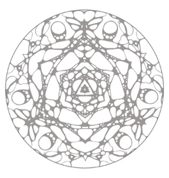 Black and white hand drawn abstract kaleidoscope vector image vector image