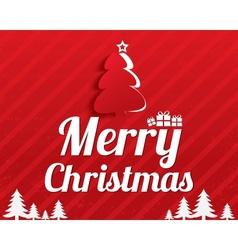 Merry Christmas Greeting Card Christmas tree vector image vector image