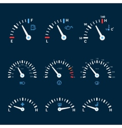 Speedometer interface icons vector image