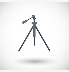 tripod flat icon vector image