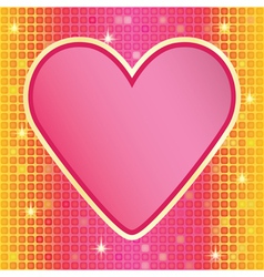 valentine over mosaic background vector image vector image