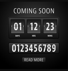 Countdown timer template vector