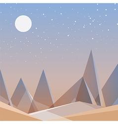 Smooth polygonal landscape design vector image vector image