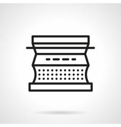 Typewriter black line design icon vector image