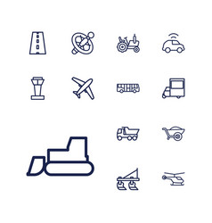 13 transport icons vector