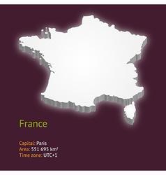 3d map of metropolitan france vector image