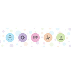 5 comfort icons vector