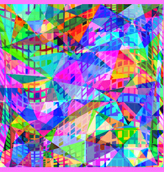 abstract geometric neon background vector image