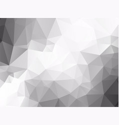 abstract gray polygonal pattern vector image