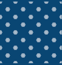 abstract pattern with white snowflakes winter vector image
