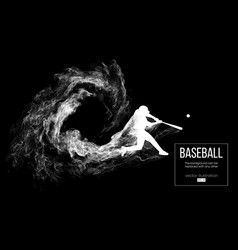 Abstract silhouette of a baseball player batter vector