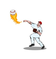 American baseball player pitcher vector