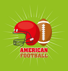 American football sport emblem icon vector