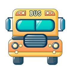 american kid school bus icon cartoon style vector image
