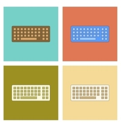Assembly flat icon computer keyboard vector
