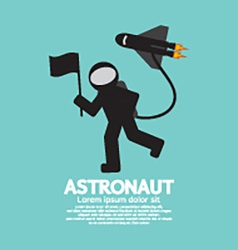 Astronaut With Spaceship Graphic vector image