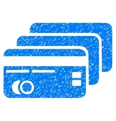 Banking Cards Grainy Texture Icon vector
