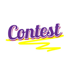 Banner with text contest tournament banner vector