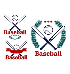 Baseball emblems or badges designs vector
