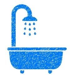 Bath Shower Grainy Texture Icon vector image