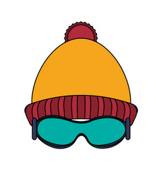 Beanie and glasses vector