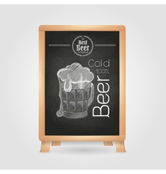 Beer in mag Chalk drawing poster vector image