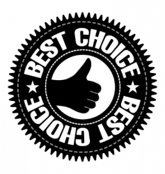 best choice sign with hand vector image