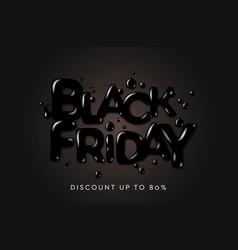 black friday sale banner poster logo on black vector image
