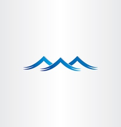 blue water waves stylized symbol vector image