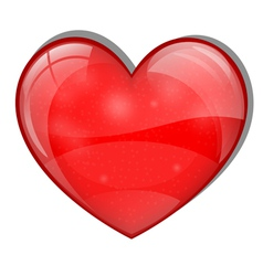 Bright glass heart vector
