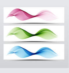 Bright speed web swoosh futuristic wave line set vector