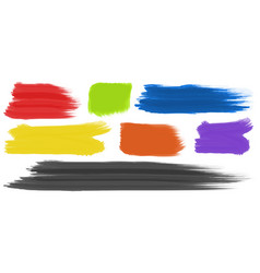 Brushstrokes with different colors vector