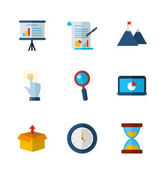 business work success finance icons set vector image
