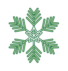 christmas snowflake winter decoration ornament vector image