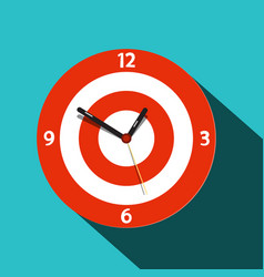 clock icon flat design time symbol vector image