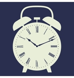 Clock on dark blue background vector image vector image