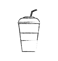 Cold soda cup vector image