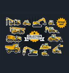 Collection of construction equipment special vector
