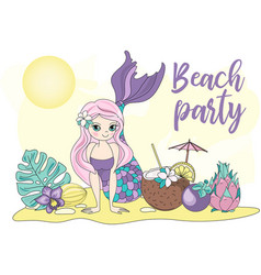 Colorful beach party vector