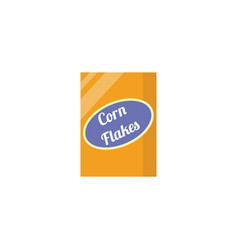 Corn flakes packaging an item grocery vector