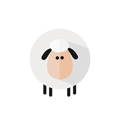 Cute sheep background vector