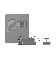Design safe and dynamite icon vector